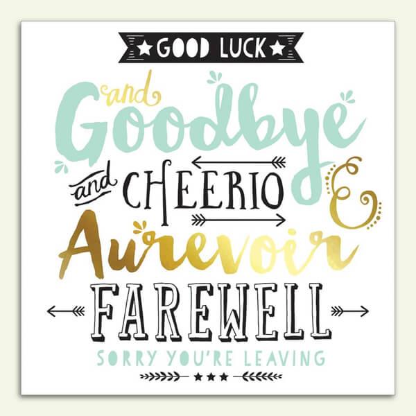 Good Luck and Farewell – No6 The Slack